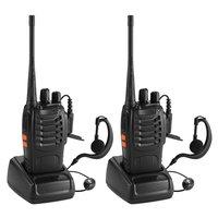 """ווקי טוקי 2pcs / הרבה Baofeng BF-888S ווקי טוקי UHF שני הדרך רדיו Baofeng 888s UHF 400-470MHz 16CH Portable מקמ""""ש עם אפרכסת (1)"""