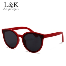 Модные детские солнцезащитные очки для мальчиков и девочек с милым кошачьим глазом, детские круглые зеркальные очки, подарочные очки UV400