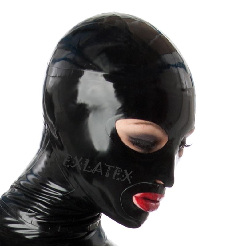 Capa de látex máscara de deadpool férias capuzes máscara facial completa com grandes olhos uma boca aberta com zíper de borracha máscara de látex