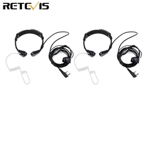 Image 1 - Гарнитура с горловиной и микрофоном для приемопередатчика, 2 шт., для Kenwood TYT Baofeng UV 5R UV 82 Retevis H777 RT 5R RT22 RT3 RT81