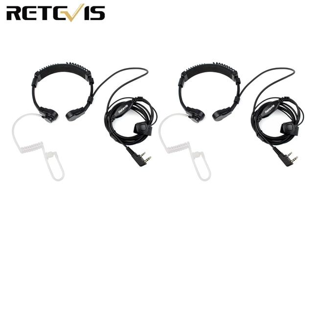 Гарнитура с горловиной и микрофоном для приемопередатчика, 2 шт., для Kenwood TYT Baofeng UV 5R UV 82 Retevis H777 RT 5R RT22 RT3 RT81