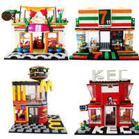 SEMBO City Legoing Streetscape ensemble de magasin modèle blocs de construction briques Street View jouets pour enfants cadeaux