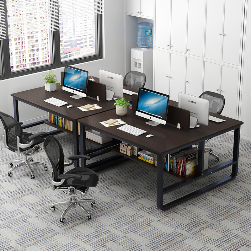 Office Desk Minimalist Modern Four-people Bit Company Staff Assembly Office Furniture Work Position Screen Combination Yuan Gong