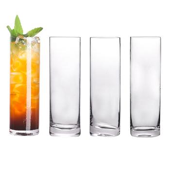Darmowa wysyłka 4 sztuk dodatkowe światło kryształowe okulary Highball Barware Collins Tumbler do wody sok piwo i koktajl zestaw 4 tanie i dobre opinie cocktailgeek ROUND Szkło Collins szkła Ekologiczne Zaopatrzony