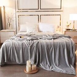 Zima miękka flanelowa narzuta na dom koc ciepłe wygodne łóżko kołdry biuro podróży samolot koc do drzemek koc w Narzuta od Dom i ogród na