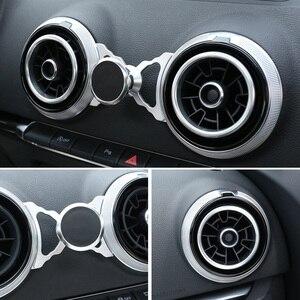 Image 5 - لأودي A3 S3 8 فولت العالمي سيارة حامل جوّال بلاستيكي Q2 SQ2 الهواء تنفيس جبل سيارة حامل المغناطيس 360 تدوير دعم موبايل غس ملحق