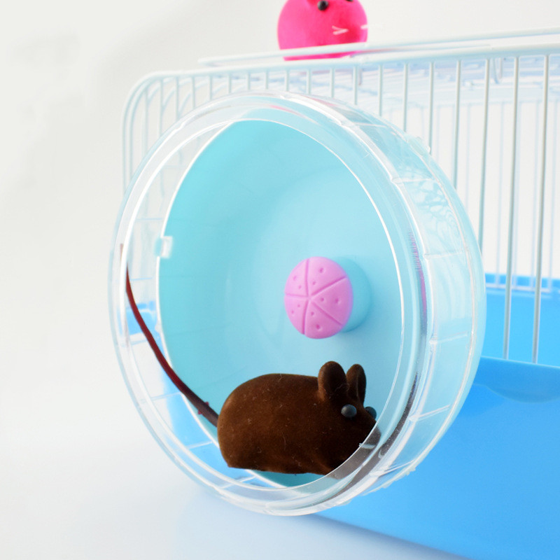 Cute Hamster Mute Running Wheel Silent Rotator Squirrel Hedgehog Hamster Sports Exercise Toy Accessories Small Pet Supplies