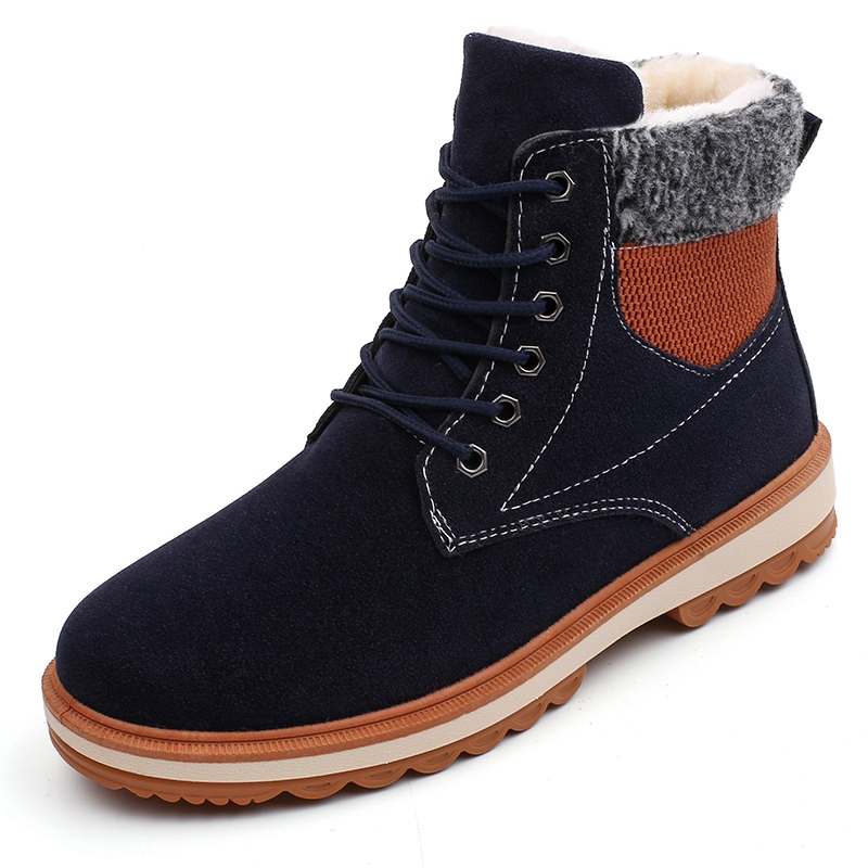 Warm Men's Winter Suede Leather Ankle