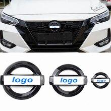 ABS araba direksiyon ön arka amblem Sticker Nissan Sylphy X Trall Tiida Bluebird Qashqai Altima güneşli rozeti aksesuarları