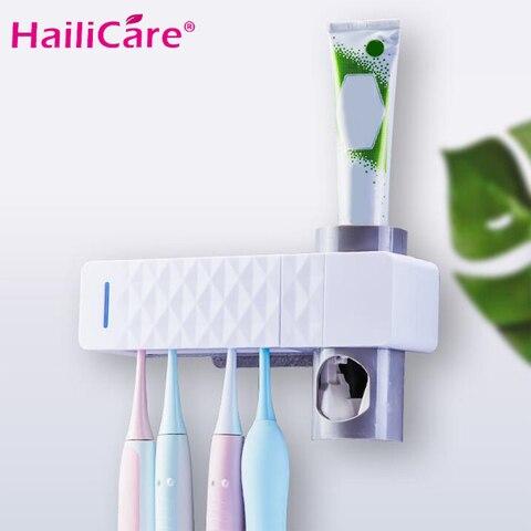 antibacteriana 2 em 1 uv luz ultravioleta escova de dentes esterilizador escova de dentes titular
