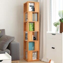 Rotierenden Bücherregal Boden Lagerung Regal Einfachheit Bücherregal Studenten Kreative Bücherregal Multi-funktionale Wohnzimmer Schrank