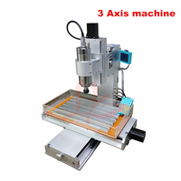 High Precision Ball Screw Table Column Type 3040 3 axis 4 axis 5 Axis 2.2KW spindle CNC milling machine lathe