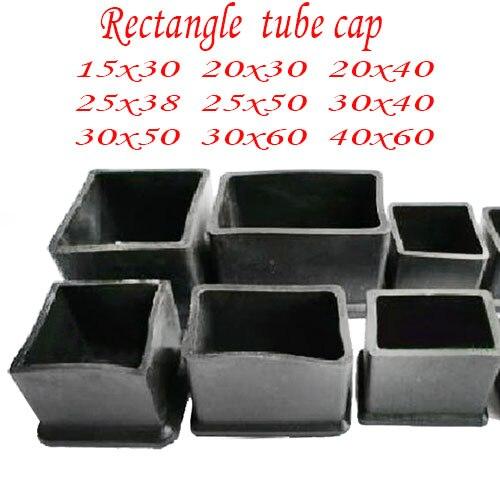 15X30 20X30 20X40 25X38 25X50 30X40 30X50 30X60 40X60 مستطيل كرسي قدم غطاء وسادة التفاف حامي الساق أنبوب إدراج نهاية-في إكسسوارات الأثاث من الأثاث على AliExpress