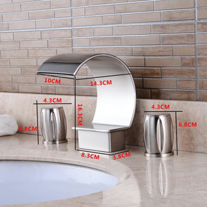 Image 5 - New fashion Modern Basin Faucet Bathroom Accessories Black Brush Nickel Retro Faucets Hot and Cold Mixer Water Tap Crane