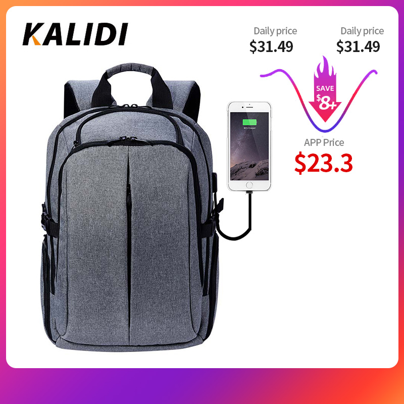 KALIDI Laptop Backpack For Teenager Backpacks Men  School Bag Waterproof Vintage Backpack Travel 15.6 Inch Or 17.3 Inch Laptop
