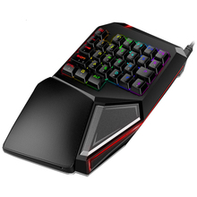 цена на Delux T9 Plus Mechanical Gaming Keyboard Gamer Computer Keypad One Hand RGB Backlit Wired Keyboard For PC Laptop Game Notebook