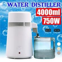 Destilador de agua pura de 110V/220V, 750W, 4L, contenedor purificador de agua, aparato para filtrado de agua, agua destilada para el hogar