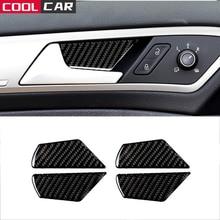 For VW Volkswagen Golf 7 Inner Door Bowl Carbon Fiber Decorative Paste 4 Piece Set of Car Interior Decoration Accessories