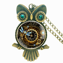 Classic Antique Bronze Steampunk Handmade Inlaid Rhinestone Necklace Pendant Classic Men Women Punk Jewelry Gifts special antique handmade necklace suit professional wood resin production special jewelry gifts for men and women