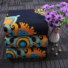 ライチ生活本物のワックスプリント生地アンカラアフリカの花プリント生地 · 縫製パーティードレスパッチワーク作り工芸品