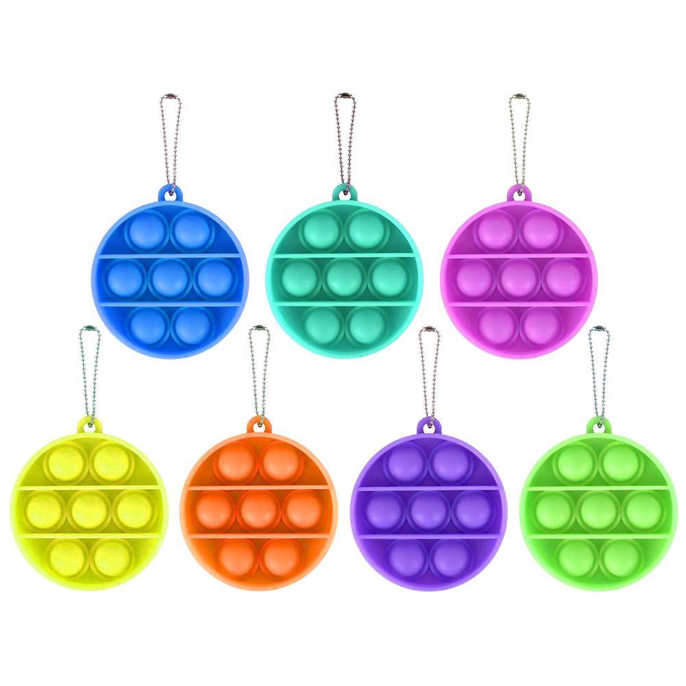 Toys Adult Autism Pop Fidget Keychain Needs Bubble-Sensory-Toy Anti-Stress Funny Push-Pop img2