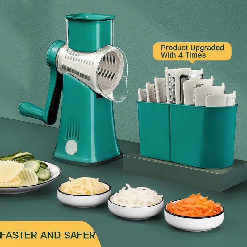 Kitchen Machine Vegetable Cutter Manual Potato Graters Rotary Slicer Mini Nutmeg Grater Spiralizer Shredder Kitchen Gadgets Tool