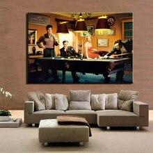 Clássico filme pintura em tela cartazes e impressões arte da parede elvis presley humphrey bogart jogar bilhar sala de estar decoração cuadros
