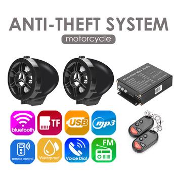 Pilot Alarm motocyklowy System wodoodporny MP3 FM głośnik Bluetooth z radiem wzmacniacz Stereo Moto z zabezpieczeniem przeciw kradzieży tanie i dobre opinie CN (pochodzenie) NONE Alert bezpieczeństwa Specjalne części urządzenia zabezpieczającego przed kradzieżą