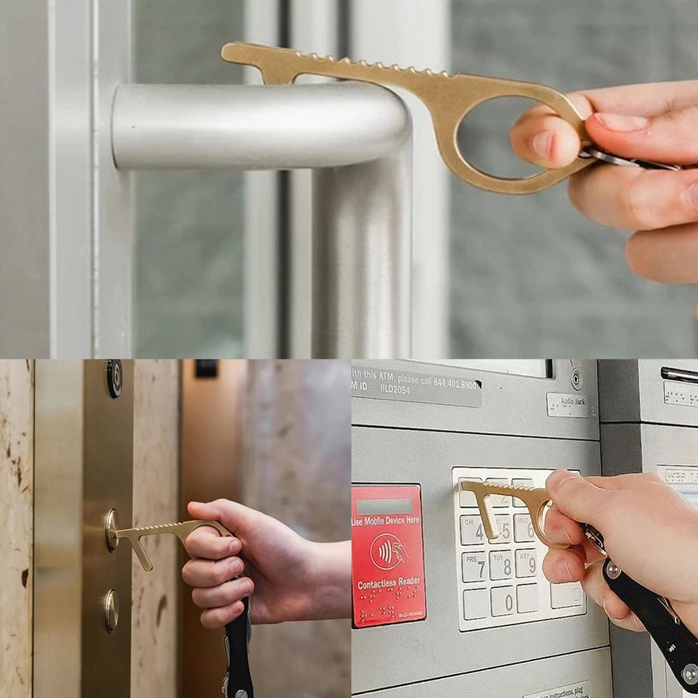 Anti Virus, Convenient For Family Health, Portable Press, Anti Bacteria, Sanitary Elevator, Alloy Bronze Door Handle Opener