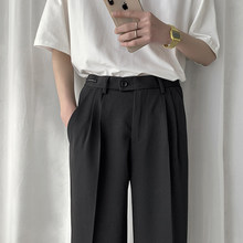 EWQ / men's wear 2020 spring summer new simple loose wide leg straight trousers casual all-match trend suit pants korean 9Y1929(China)