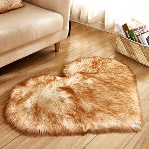 Carpet Area-Rugs Wool-Rug Bedroom Floor Artificial-Sheepskin Faux-Fur Living-Room Heart