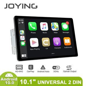 JOYING Android 10.0 car radio player universal 10.1 inch 2 din 4GB RAM& 64GB ROM support carplay 5G WIFI Fast Boot 1280*800 RDS