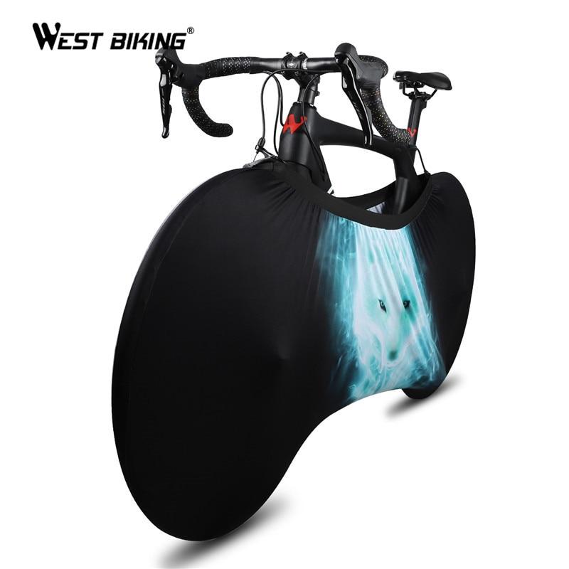 WEST Bike 24-29 pouces couverture de vélo d'intérieur roue de vélo sac de rangement anti-poussière haute élastique tissu route vtt vélo cache-poussière