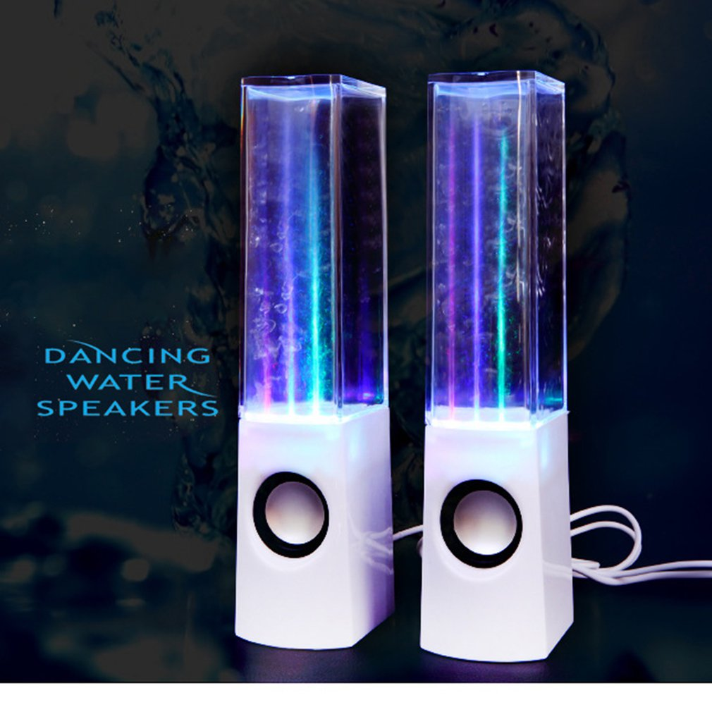 Creative Water Dance Speaker Music Fountain Sound Colorful Light Water Spray Sound Stereo Wireless Smart Speaker