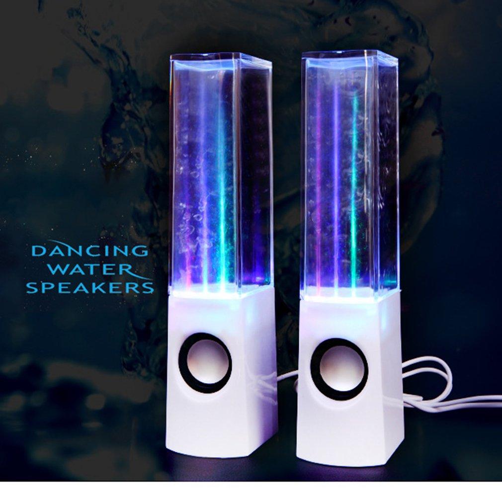 Creative Water Dance Speaker Music Fountain Sound Colorful Light Water Spray Sound Stereo Wireless Smart Speaker