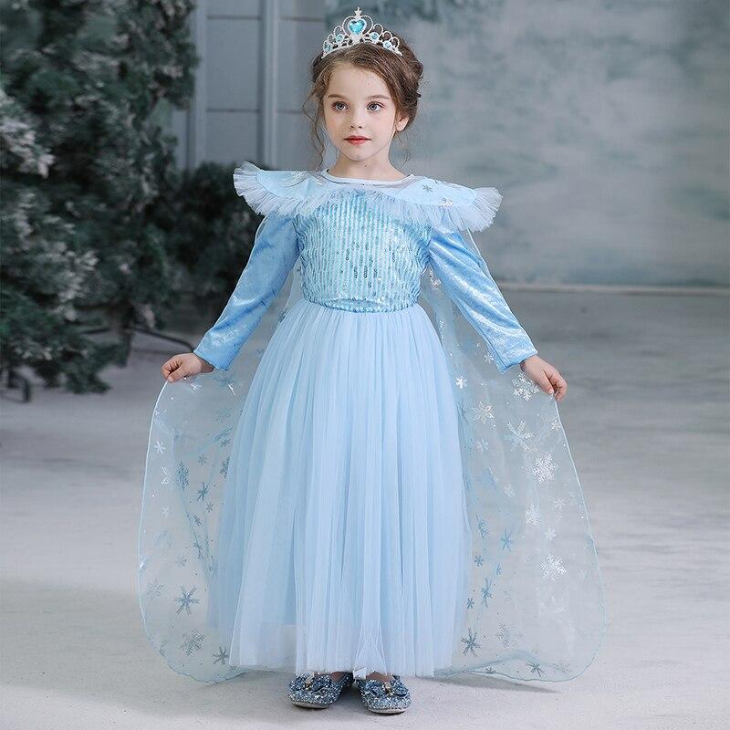 Elsa Anna Francy Party Girl Dress Party Cosplay Kids Clildren Dresses For Girls
