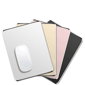 Top Metal Aluminum Box Mouse Pad Mat Hard Soft Magic Fine Double Sided Waterproof Fast And Accurate Control For Home Office