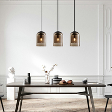 Glass Industrial Nordic Pendant Lamp for Living Room Loft Retro Vintage Pendant Light E14  Hanging lamps Lampes Suspendues