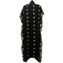 Fashion Africa style Abaya Long Dashiki Diamond Daily Clothes Black Dress with scarf Loose Muslim Robe For African Lady