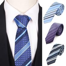 New Skinny Men Ties Classic Necktie For Business Slim Striped Neck Tie For Men Women Cravats 5cm Width Groom Neckties 7 5cm necktie business silk ties for men tie 2019 new arrival men s ties pattern black men wedding neckties