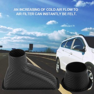 Image 3 - 1Set Car Cold Air Intake System Kit Air filter Auto Front Bumper Turbo Air Intake Pipe Turbine Inlet Pipe Air Funnel Kit