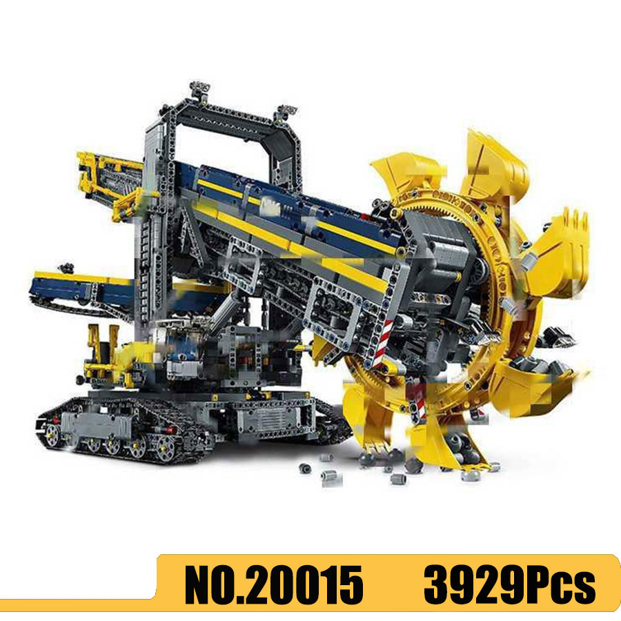 Lepinglys 20015 3929pcs Technic Car series Bucket Wheel Excavator Set Building Blocks Bricks <font><b>42055</b></font> Toys for Kids Gift image