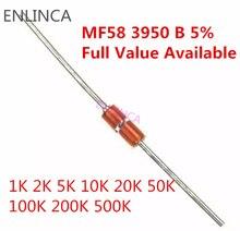 Набор 10 значений, 10 значений * 10 = 100 шт., тепловой резистор NTC MF58 1K 2K 5K 10K 20K 50K 100K 200K 500K 1M 5% 3950B Ом R датчик термистора