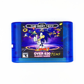 FOR-EVER DRIVE MD 830 PLUS GENESIS 1277 in 1 Game Cartridge for Sega Genesis and MegaDrive Console 10pcs for sega mega drive 112 in 1 game card cartridge 16 bit md game card for sega genesis freeshipping