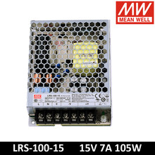 Original MEAN WELL LRS-100-15 85-264VAC To DC 15V 7A 105W Single Output Switching Power Supply Meanwell LED Driver
