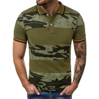 Męska marka kamuflaż koszulka Polo 2020 nowe męskie koszulki Polo Casual Slim Fit klasyczna koszulka Polo Homme zieleń wojskowa Camisa Polo Masculina tanie i dobre opinie XIPENG SHORT CN (pochodzenie) REGULAR Na co dzień guzik Camouflage COTTON oddychająca Stałe M L XL XXL XXXL gREEN Camouflage Gray Camouflage kHAKI