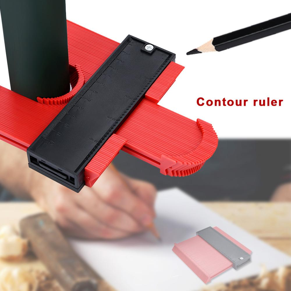 Plastic Contour Gauge Duplicator Scribe Flexible Ruler Measure And Circular Frame Profile Woodworking Template Tools