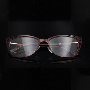 Image 1 - ESNBIE Metal Vintage Cats Eye Glasses Frames For Women Fashionable Spectacle Frames Cat Eye Woman Optical Eyeglasses Frames