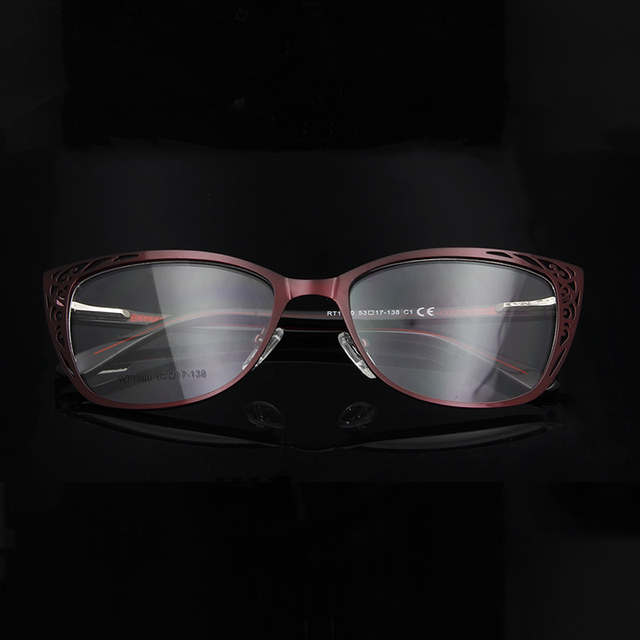 ESNBIE Metal Vintage Cats Eye Glasses Frames For Women Fashionable Spectacle Frames Cat Eye Woman Optical Eyeglasses Frames
