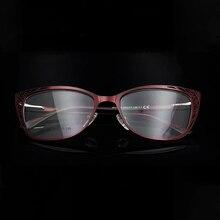 ESNBIE Metalen Vintage Katten Bril Frames Voor Vrouwen Modieuze Brilmonturen Cat Eye Vrouw Optische Brillen Frames